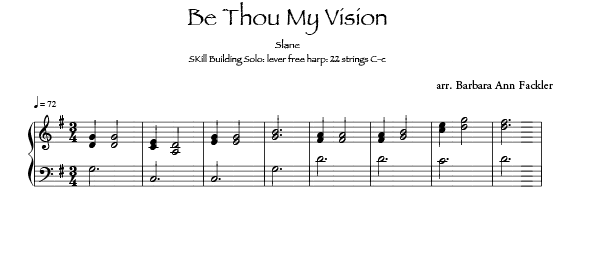 Be Thou My Vision harp sheet music