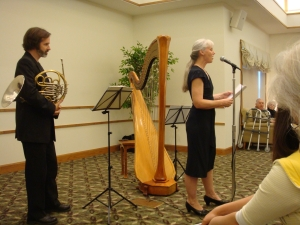 horn and harp duo: Chicago, IL - Akron Ohio