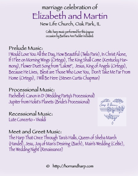 music for Christian wedding NE Ohio Cuyahoga Falls, Akron, Norton, Canton