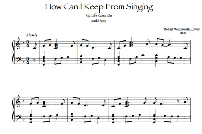 How Can I Keep From Singing? harp solo