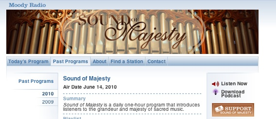Moody Radio: Sound of Majesty: harp solo music