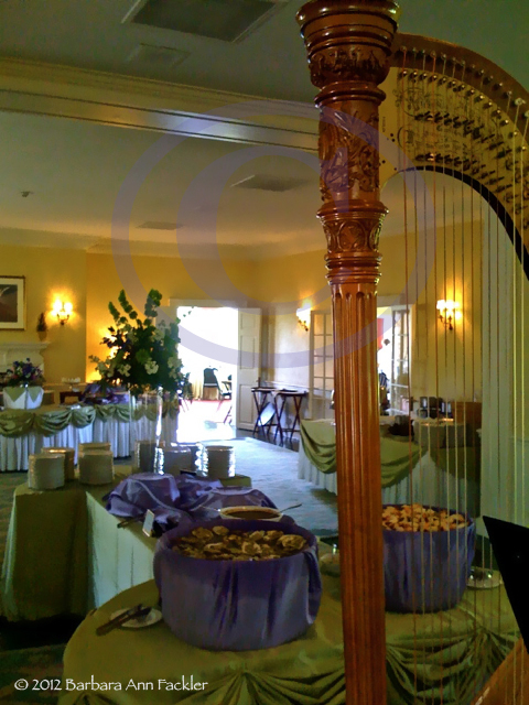 Mother's Day Barrington Country Club harpist