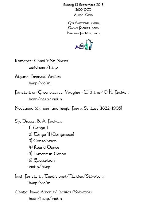 sample concert program