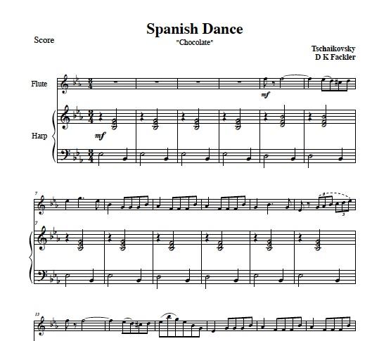 viola sheet music ~ violin sheet music ~ violin and harp
